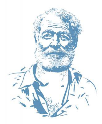 Portrait of legendary writer, Ernest Hemingway