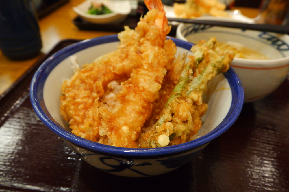 Tempura served at a restaurant in Tokyo, Japan