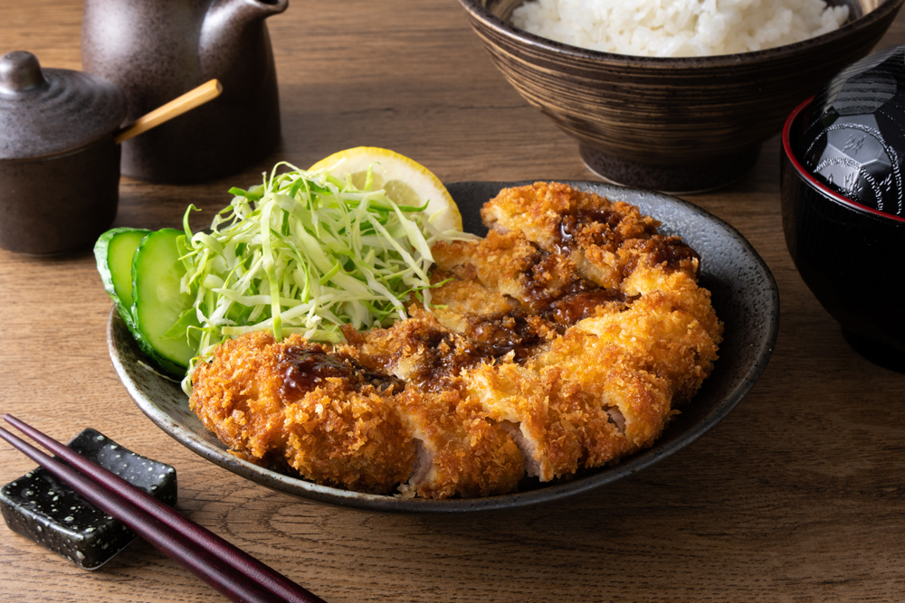 Traditional dish of tonkatsu, Japan