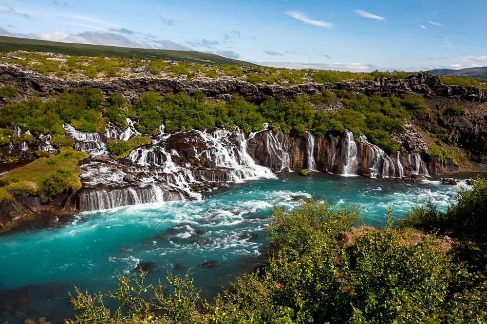 Hraunfossar series of waterfalls, Iceland