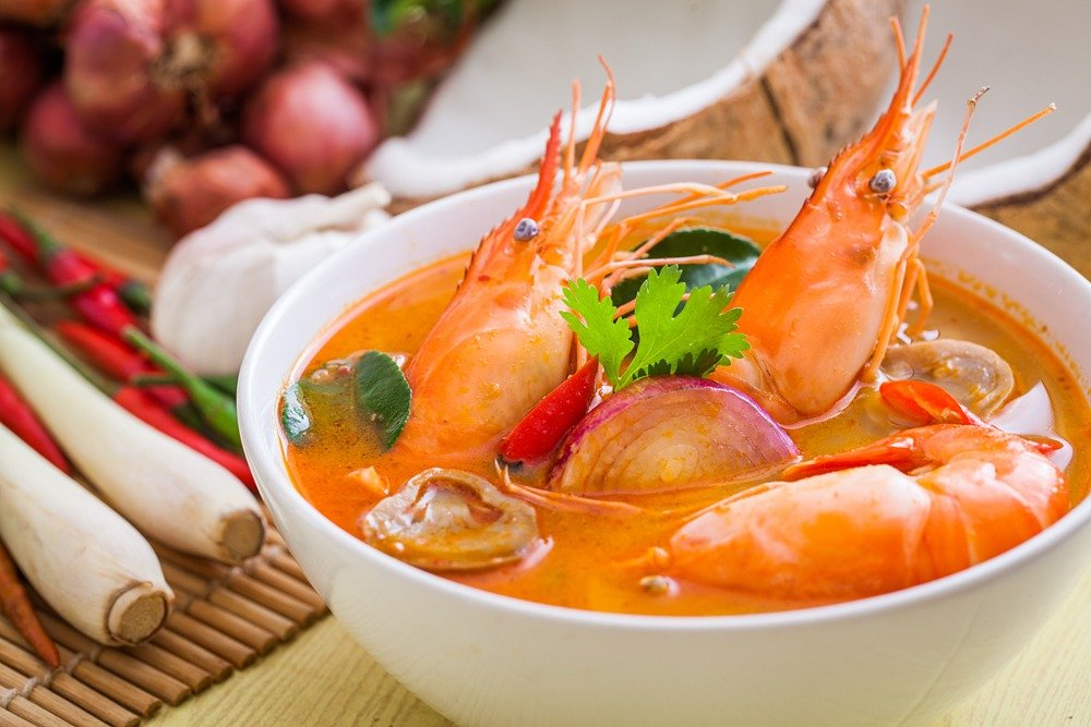 Tom Yum Goong with shrimp, Thailand