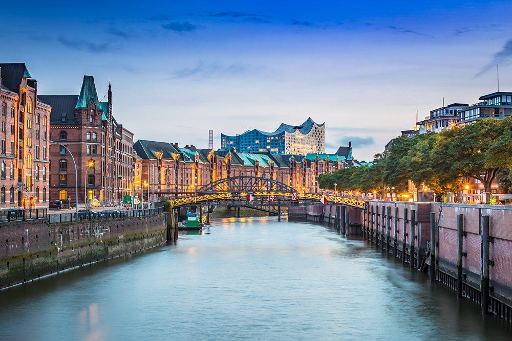 Unesco World Cultural Heritage Speicherstadt in Hamburg, Germany
