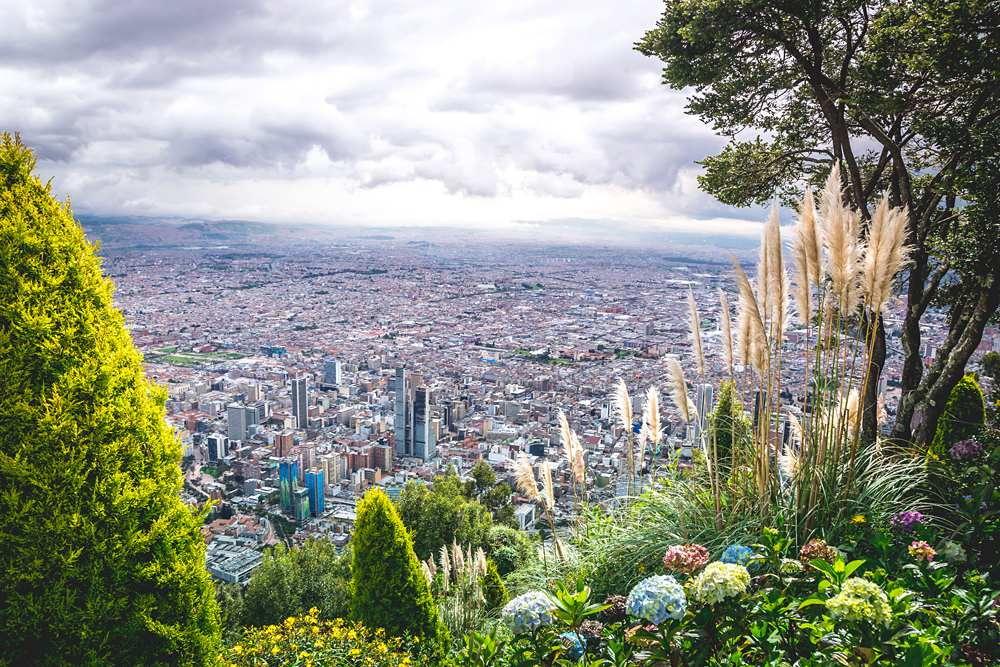 View of Bogota from Monserrate, Colombia