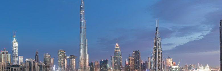 Burj Khalifa and Dubai skyline view, United Arab Emirates (UAE)