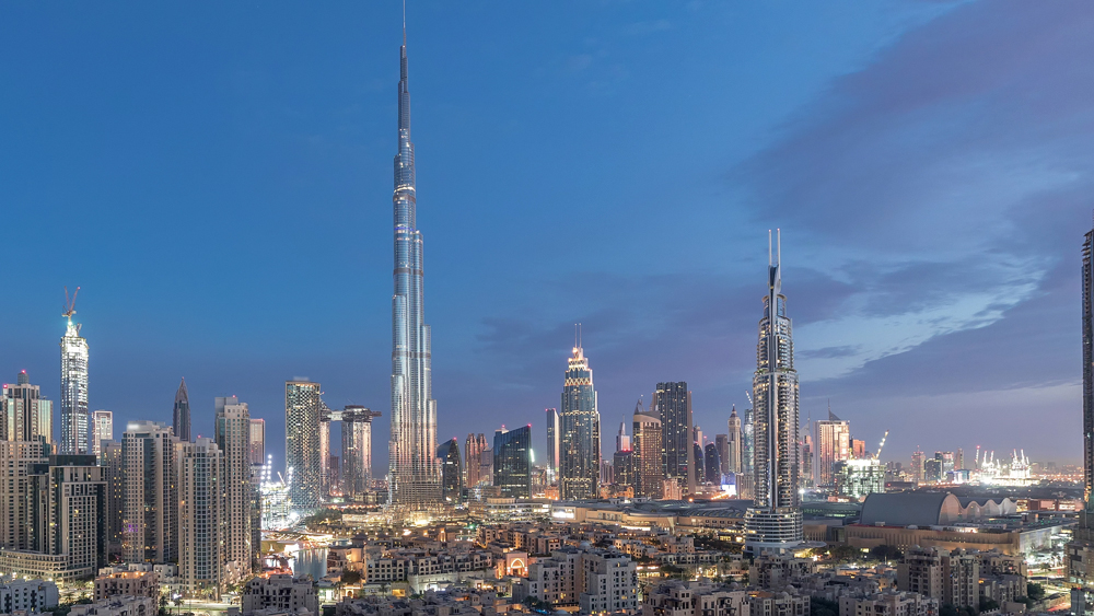 Burj Khalifa and Dubai skyline view, United Arab Emirates (UAE)