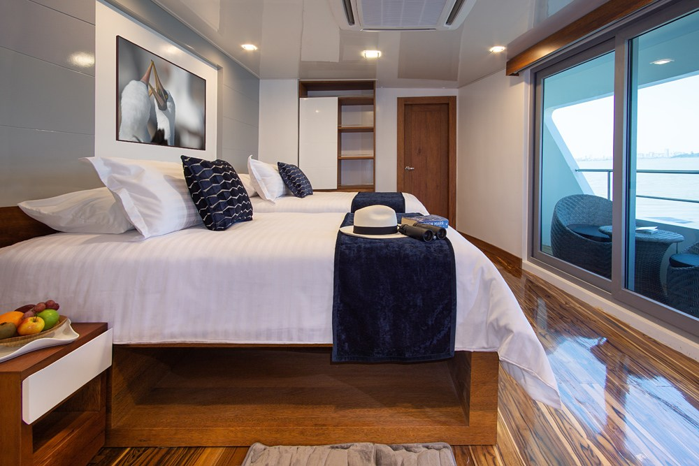 Infinity cruise vessel suite, Galapagos Islands, Ecuador