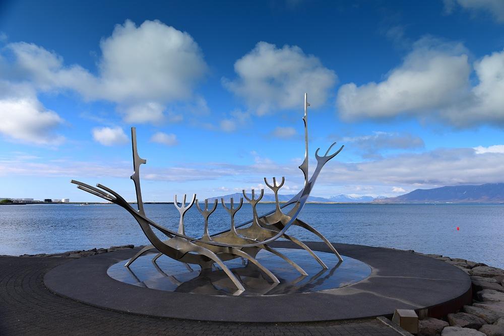 Sun Voyager stainless steel sculpture, Reykjvik, Iceland