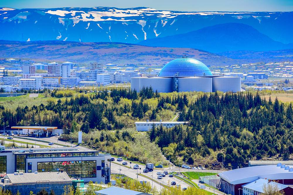 View of the Perlan, Reykjavik, Iceland