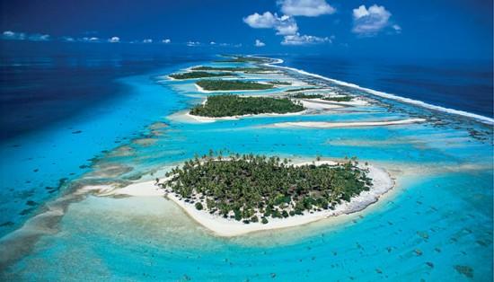 Aerial View of Rangiroa Tahiti