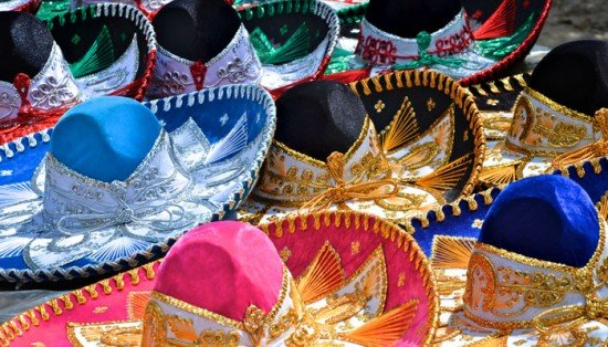 Colorful sombreros for sale