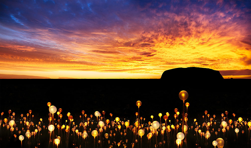 Field of Light at Ayers Rock
