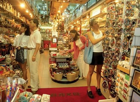 Hong Kong shopping in store
