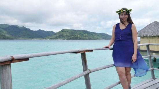 Natalie in Tahiti