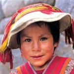 A local boy in Ollantaytambo