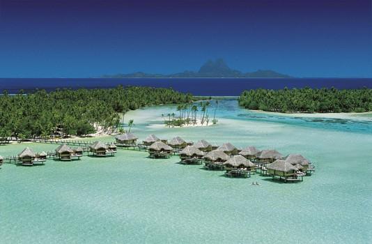 Aerial view of Le Tahaa Resort