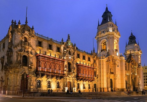 Archbishop's Palace in Lima, Peru