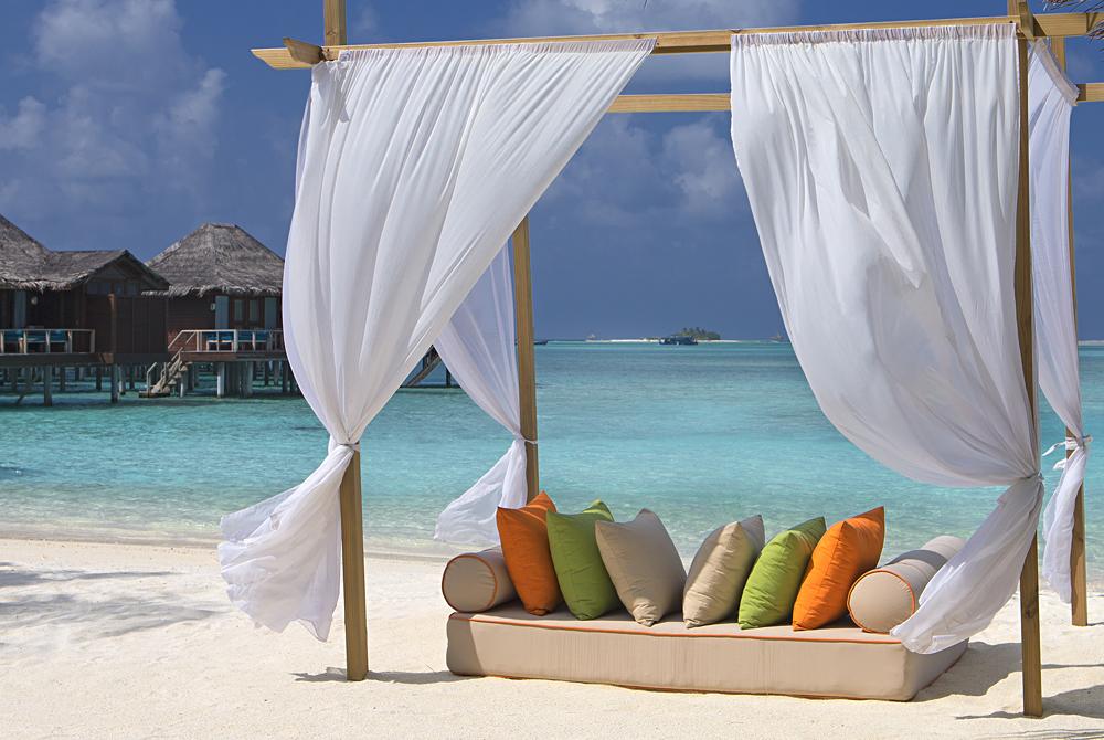 Beach and Lounge Sofa at Anantara Veli, Maldives