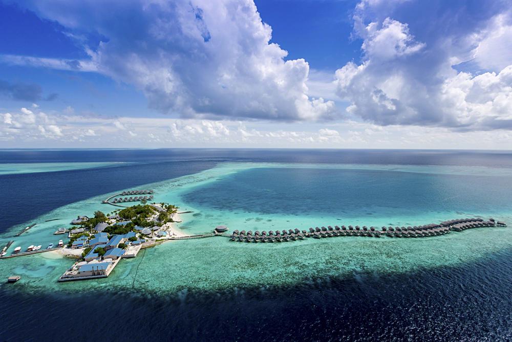 Centara Ras Fushi Aerial View, Maldives