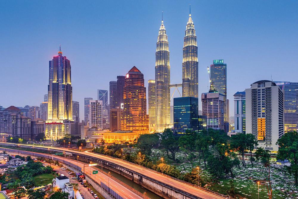 Kuala Lumpur City Skyline at Evening, Malaysia