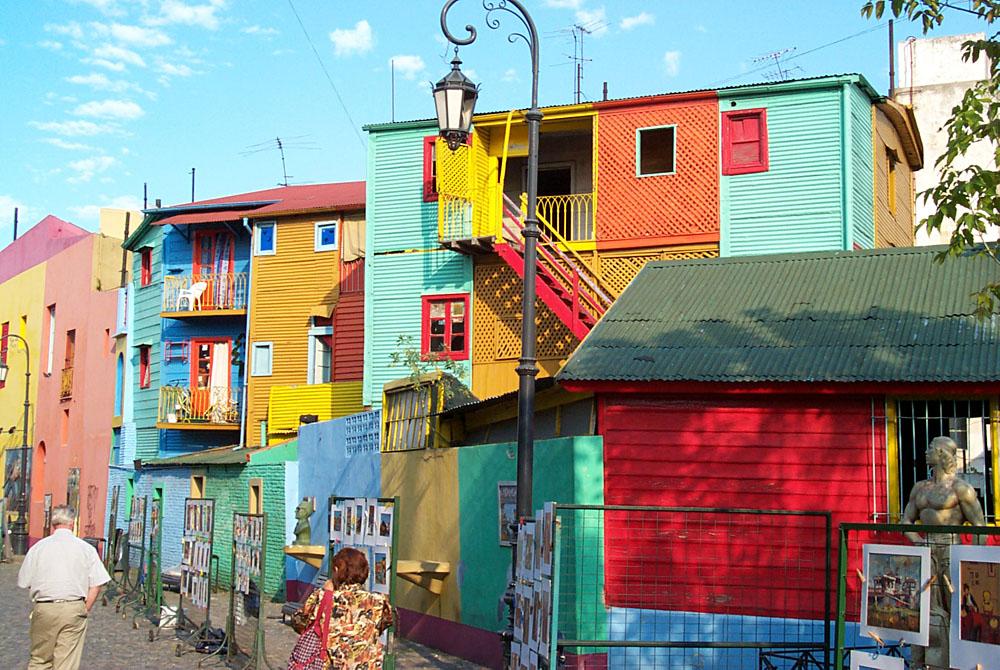La Boca Neighbourhood in Buenos Aires, Argentina