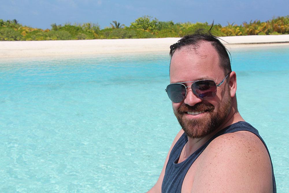 Mike Bertoia in the Maldives