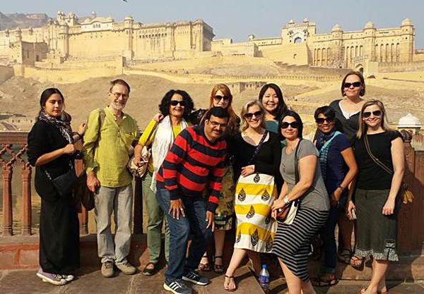 Nyssa Hartin - Group Shot at Amber Fort in Jaipur, India