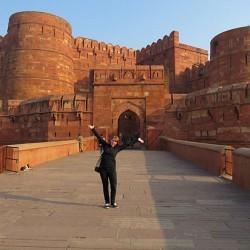 Nyssa Hartin - Nyssa at Red Fort in Agra, India