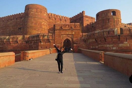 Nyssa Hartin - Nyssa at Red Fort in Agra, India
