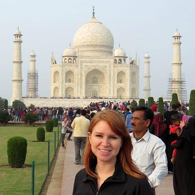 Nyssa Hartin - Nyssa at Taj Mahal in Agra, India