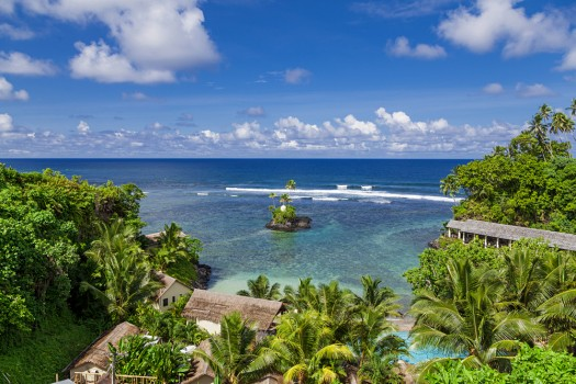 Natalia Kovacs - Overlooking the Seabreeze Resort Samoa
