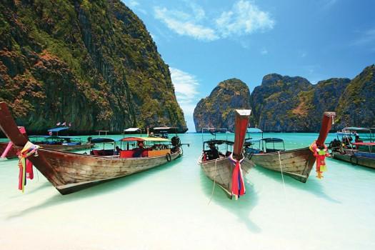 Phi Phi Island Longtail Boats, Thailand