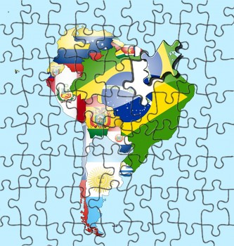 South America Continent Jigsaw