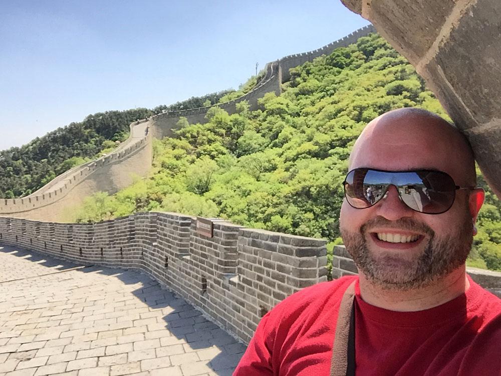 Steve Perkins at Great Wall of China