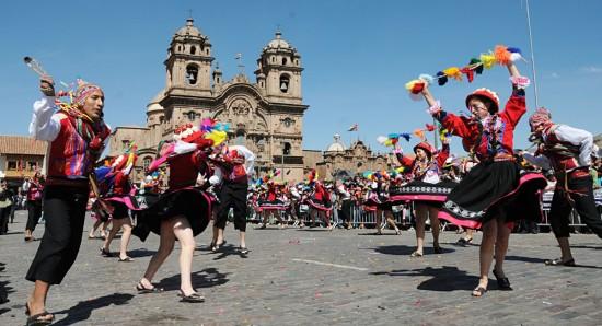 Dancers at Plaza de Armas Cusco, Peru