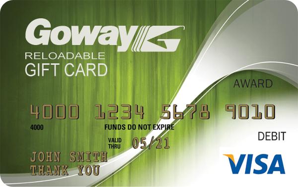 Goway Rewards Card