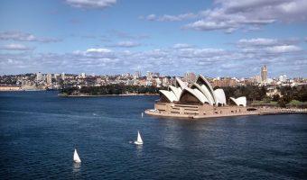 Aerial view Sydney Australia