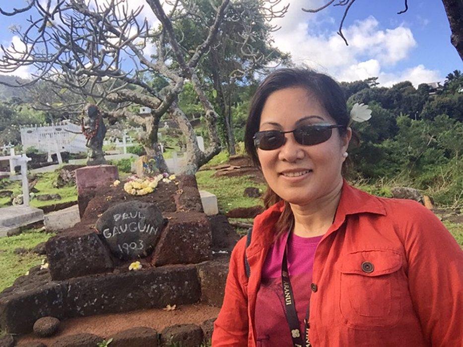 Gemma Adina - Paul Gauguin's Final Resting Place on the Island of Hiva Oa, Marquesas Islands, Tahiti