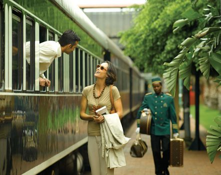 Rovos Rail Departing and Couple, Africa