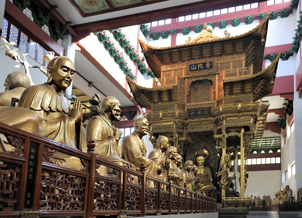 Bronze Buddha Statues in Lingyin Temple, Hangzhou, China