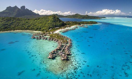 Conrad Bora Bora Nui - Aerial View, Bora Bora, Tahiti