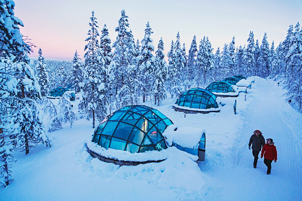 Stay in ice igloos in finnish lapland goway agent - What temperature to keep house in winter when gone ...