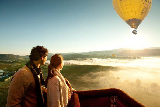 Hot air balloon in Yarra Valley, Australia
