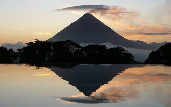 Arenal Volcano at Sunset with Reflection, Costa Rica