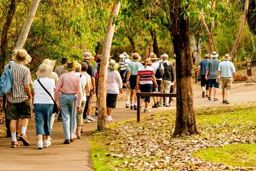 Travel Group on Nature Walking Tour