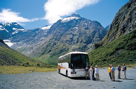 New Zealand APT Coach and Passengers