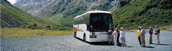 New Zealand APT Coach and Passengers