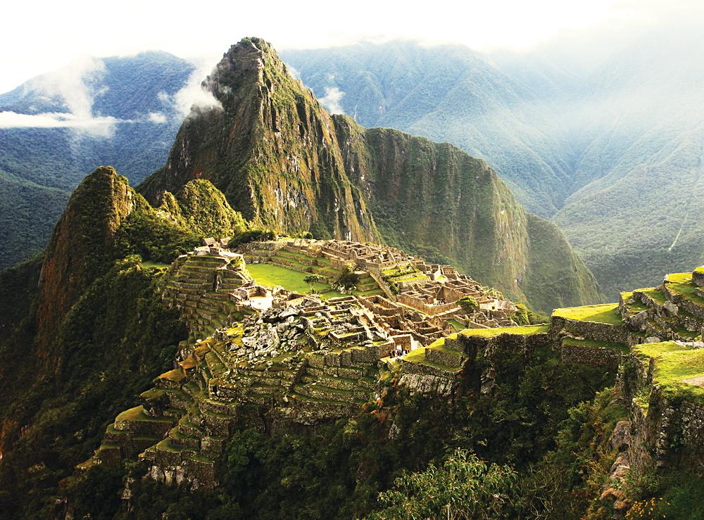 Machu Picchu Inca Lost city in Mist, Peru_161549252