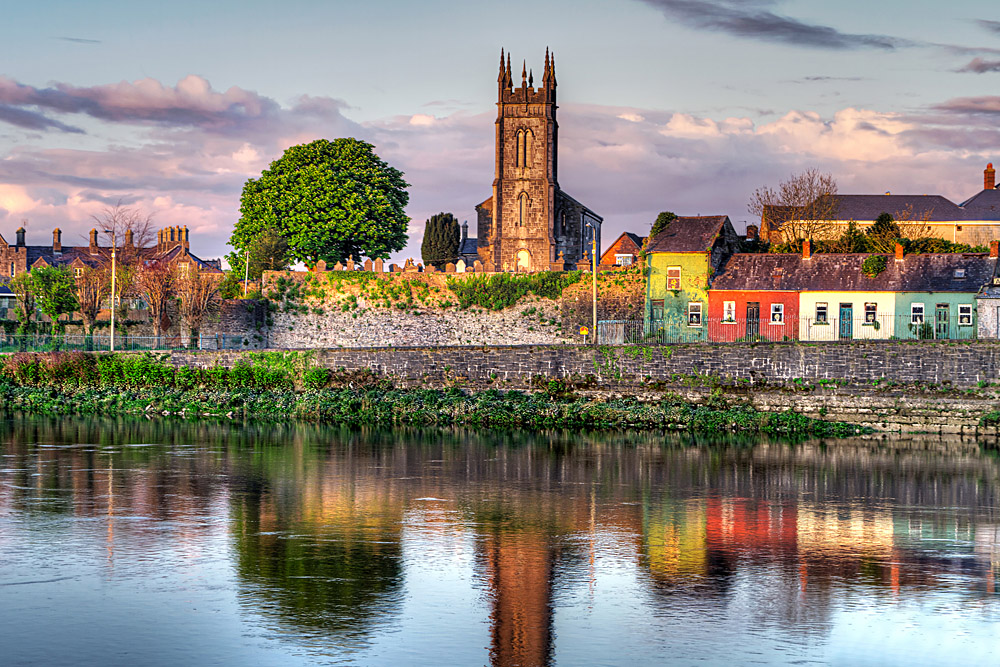 Shannon River Scenery in Limerick City, Ireland