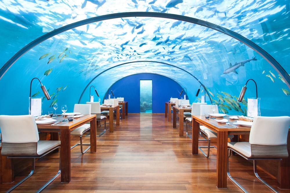 Unique underwater dining experience at Conrad Maldives Rangali Island