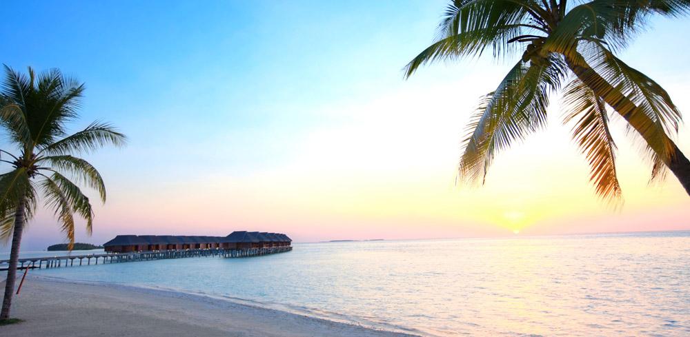 Water Villa and a beautiful sunset at LUX South Ari Atoll